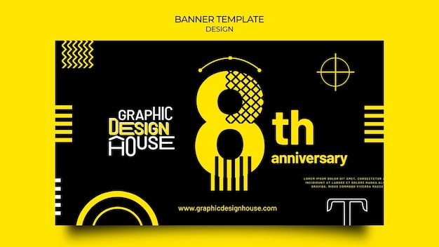Banner-vorlage für grafikdesign-services