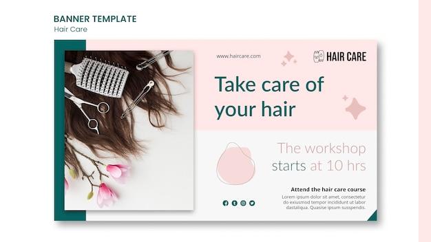 Banner-vorlage für haarpflege-ratschläge