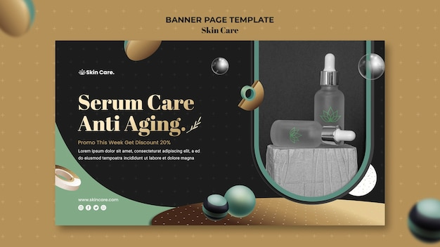 Banner vorlage für hautpflegeprodukte
