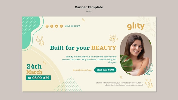 Banner-vorlage für hautpflegeprodukte