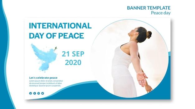 Banner vorlage für internationalen tag des friedens