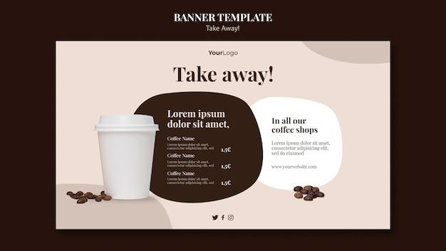 Banner vorlage für kaffee zum mitnehmen