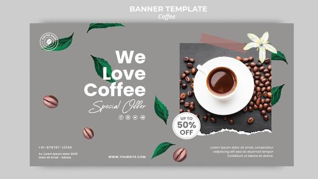 Banner vorlage für kaffee