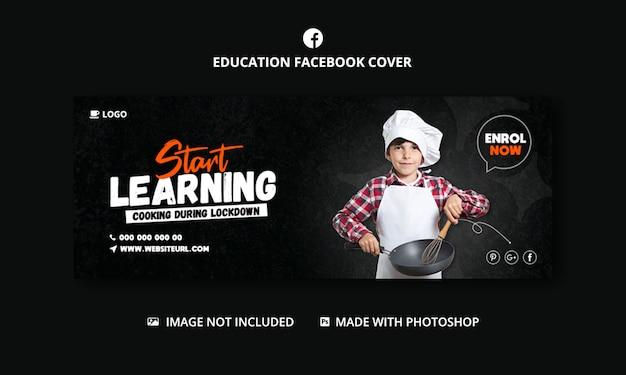 Banner vorlage für kochkurse für social media post