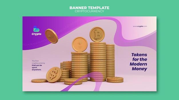 Banner-vorlage für kryptowährungen