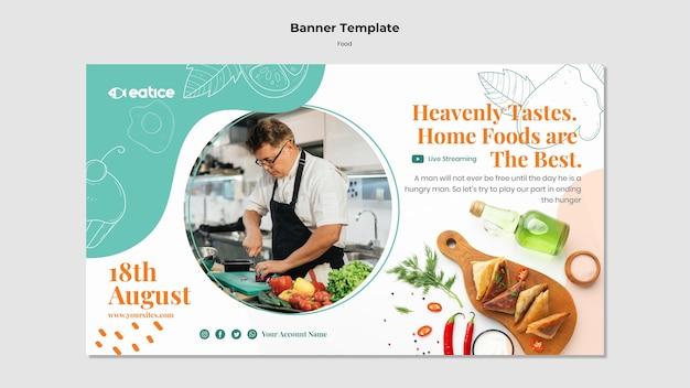 Banner-vorlage für leckeres essen