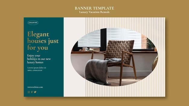 Banner-vorlage für luxus-ferienwohnungen