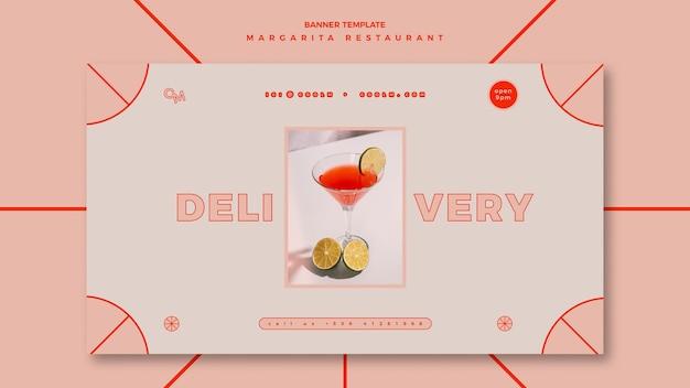 Banner vorlage für margarita cocktail drink