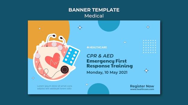 Banner-vorlage für medizinische notfälle