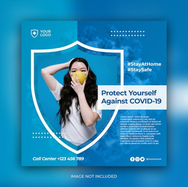 Banner-vorlage für medizinische prävention für social-media-post-vorlage