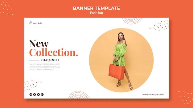 Banner vorlage für mode-shopping-shop
