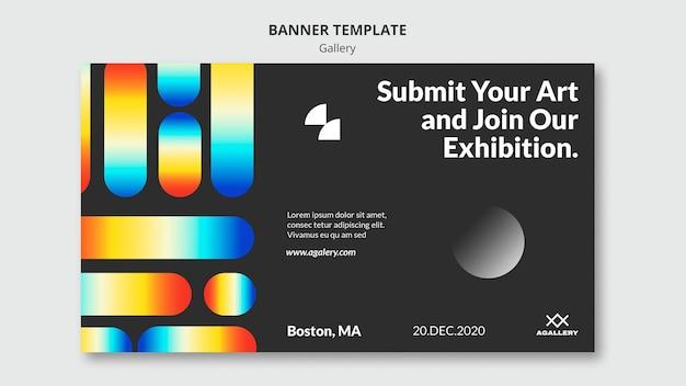 Banner vorlage für moderne kunst ausstellung