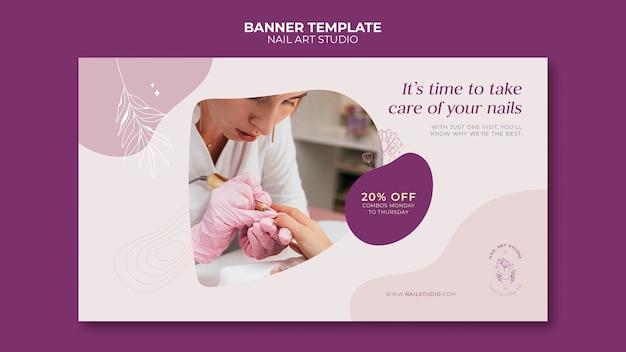 Banner-vorlage für nagelstudios