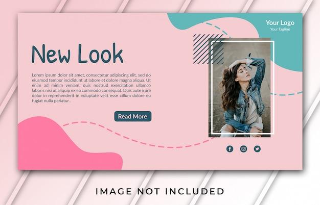Banner vorlage für neuen look
