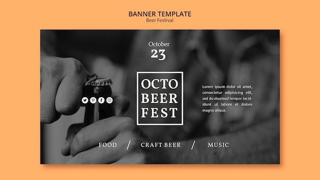 Banner vorlage für octobeerfest