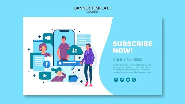 Banner-vorlage für online-kurse