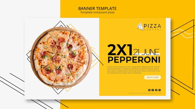 Banner vorlage für pizza restaurant