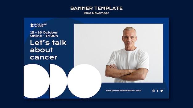 Banner-vorlage für prostatakrebs-bewusstsein