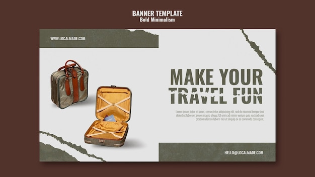 Banner-vorlage für reisetaschen