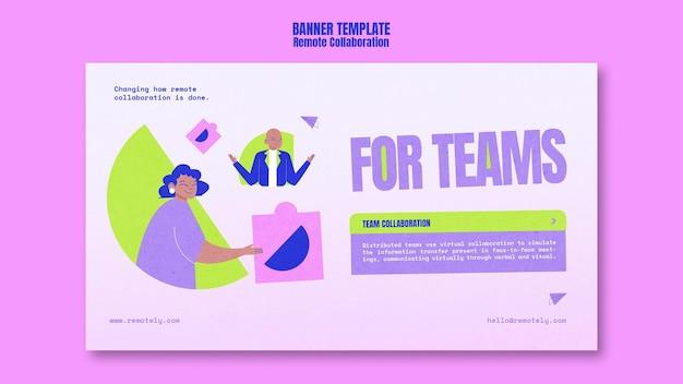 Banner-vorlage für remote-zusammenarbeit