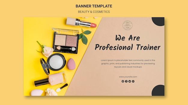 Banner-vorlage für schönheits- und kosmetikkonzepte