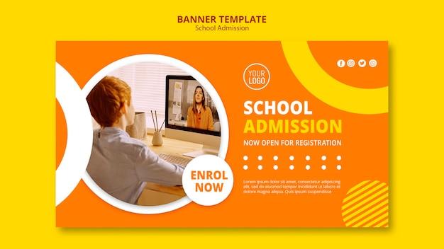 Banner-vorlage für schuleintrittskonzept