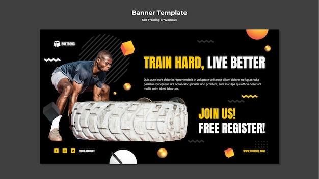 Banner vorlage für selbsttraining und training