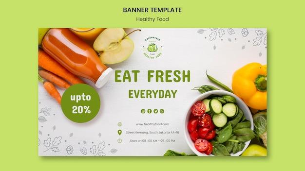 Banner-vorlage für sichere lebensmittel