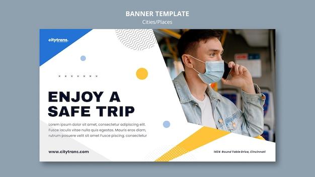 Banner-vorlage für sichere reise