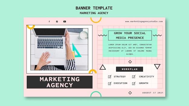 Banner-vorlage für social media-marketingagenturen