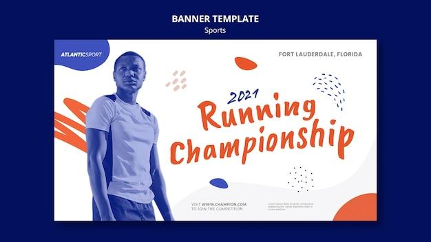 Banner vorlage für sport mit mann
