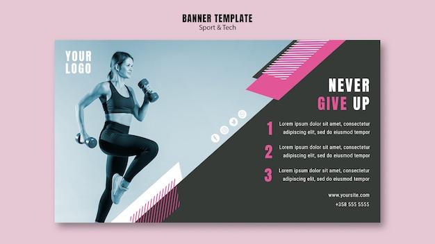 Banner vorlage für sport und fitness