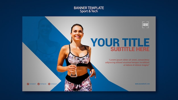 Banner vorlage für sport und technik