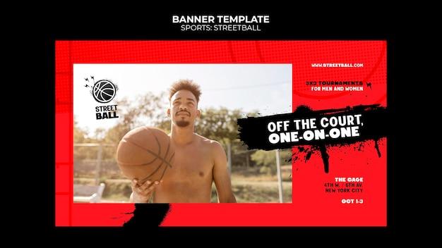 Banner-vorlage für streetball-turniere