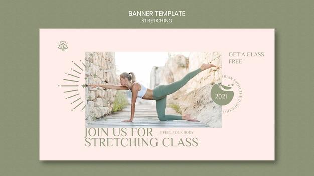 Banner vorlage für stretching-kurs