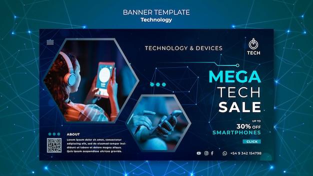 Banner vorlage für techno store