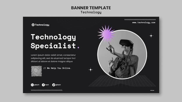 Banner-vorlage für technologiespezialisten Kostenlosen PSD