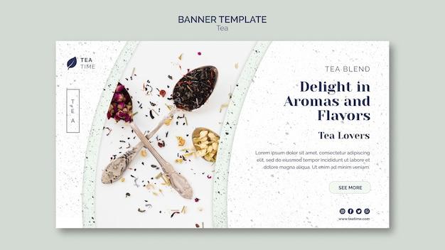 Banner vorlage für teezeit