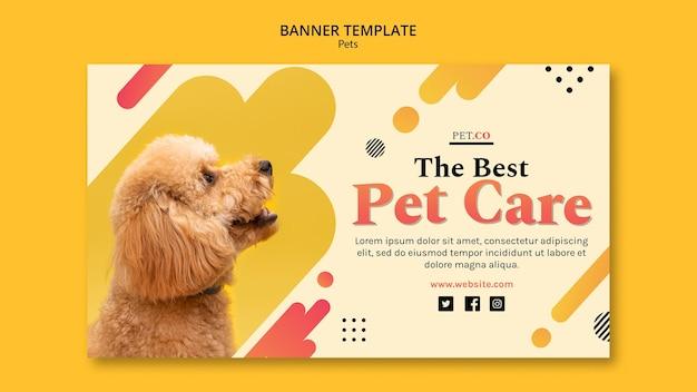 Banner-vorlage für tierhandlung