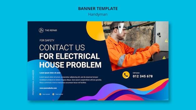 Banner-vorlage für unternehmen, die handwerkerdienste anbieten