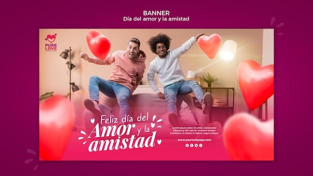 Banner vorlage für valentinstag feier