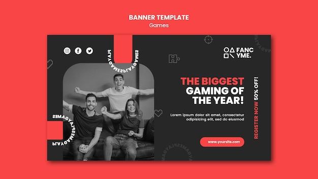 Banner-vorlage für videospiele