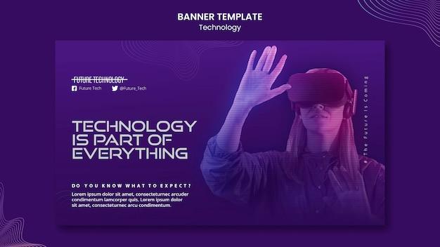 Banner-vorlage für virtuelle realität