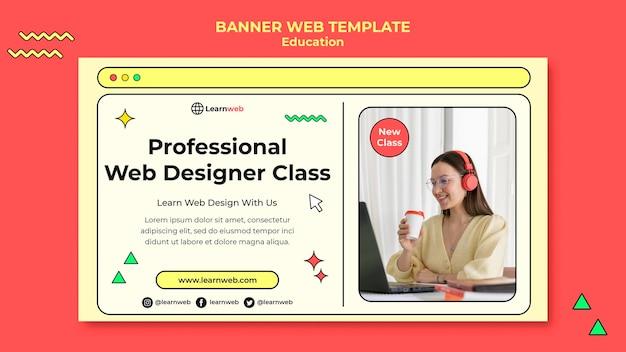 Banner-vorlage für webdesign-workshops