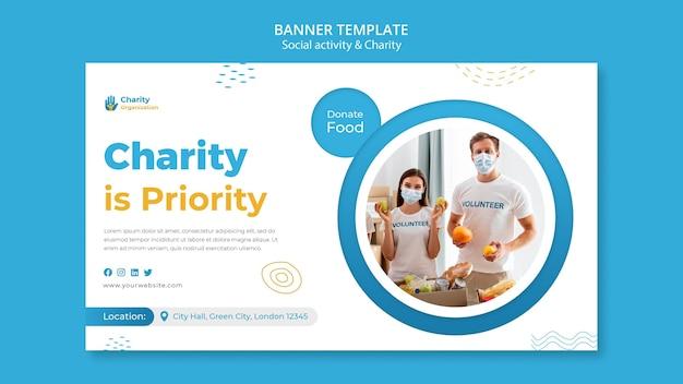 Banner-vorlage für wohltätigkeitsaktivitäten