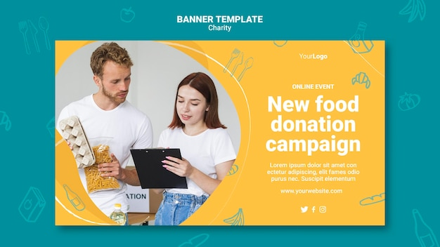Banner-vorlage für wohltätigkeitskampagnen