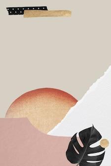 Banner-vorlage im vintage-pastell-collage-stil