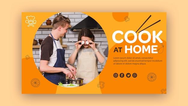 Banner vorlage kochen zu hause