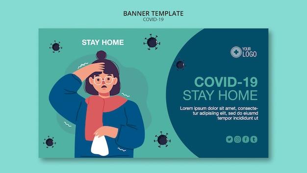Banner vorlage mit covid 19 thema