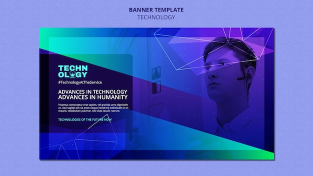 Banner-vorlage mit farbverlaufstechnologie
